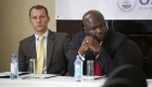 USAID Kenya's Andrew Read (left) listens to the presentations during Kenya's National Agriculture Investment Planning event.